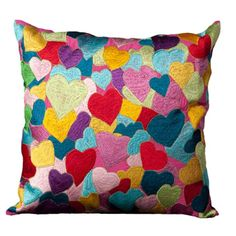 Hearts explosion pillow