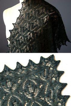 Таинственный лес / Mystic Forest Shawl | Knitting club // нитин клаб