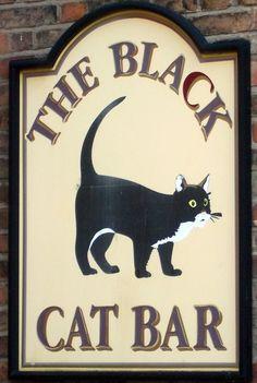 dick whittington gloucester black cat sign