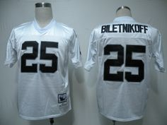 Mitchell and Ness Oakland Raiders 25 Fred Biletnikoff White Stitched Throwback NFL Jersey:$21
