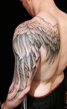 140 Heavenly Angel Tattoos That Will Make You Believe – Beste Tattoo Ideen 140 Himmlische Engel-Tattoos, an die Sie glauben werden Wing Tattoo Men, Wing Tattoos On Back, Bird Tattoo Back, Men Back Tattoos, Angel Wings Tattoo On Back, Feather Tattoos, Leg Tattoos, Girl Tattoos, Sleeve Tattoos