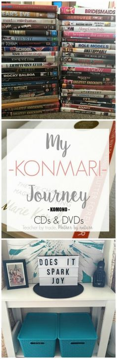 Teacher by trade, Mother by nature: My KonMari Journey: KOMONO ITEMS 1 - CDs and DVDs