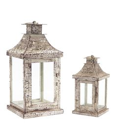 Look at this White Antique Lantern Set on #zulily today!