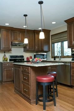 New construction kitchen in West Hartford, Connecticut. Designed by John Vecchio with Kitchen