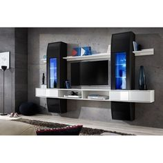 Browse modern and classic living room wall units for tv & entertainment center Wood Entertainment Center, Entertainment Furniture, Modern Tv Wall Units, Modern Wall, Modern Room, Modern Living, Tv Wall Furniture, Media Wall Unit, Small Tv Cabinet