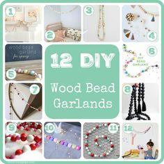 12 DIY Wood Bead Garlands