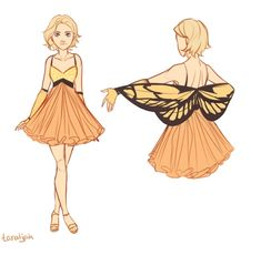Cress's butterfly dress from Winter by taratjah