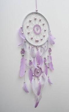 Purple Dream Catcher, Bohemian wall decor for the home, Wedding gifts, Presents and favors for the bride and for groom, Boho Dreamcatcher Purple Dream Catcher, Dream Catcher Decor, Dream Catcher Boho, Home Wedding, Wedding Gifts, Dreamcatchers, Wedding Wall Decorations, Decor Wedding, Diy Dream Catcher Tutorial