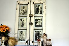 Creative use of old window frames.