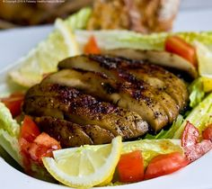 grilled portobello mushroom salad with lemon dressing