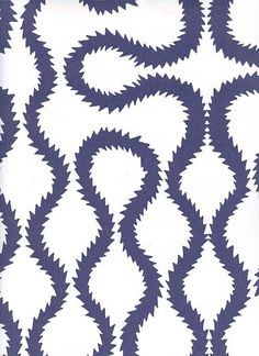 Squiggle Wallpaper Vivienne Westwood designed wallpaper in navy blue on white