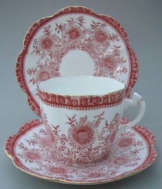 Shelley Late Foley Cup and Two Saucers C 1915 | eBay