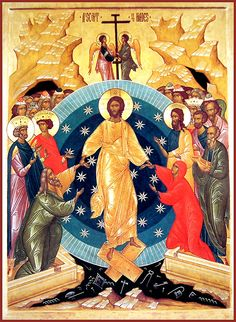 Great and Holy Saturday - Orthodox Church in America Byzantine Icons, Byzantine Art, Religious Icons, Religious Art, Lives Of The Saints, Holy Saturday, The Transfiguration, Christ Is Risen, Pentecost