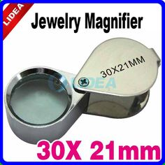 30X Power 21MM Potable Pocket Mini Handheld Eye Loupe Lupa Jeweler Tools Magnifying Glass Magnifier CN F-27
