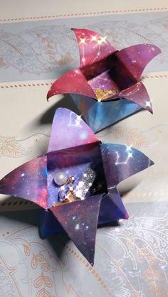 Diy Origami, Origami Simple, Origami Jewelry, Paper Crafts Origami, Origami Tutorial, Diy Paper, Paper Art, Oragami, Free Paper