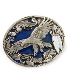 Eagle Soar With Feather Buckle