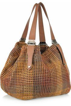 Jimmy Choo phebe woven leather bag