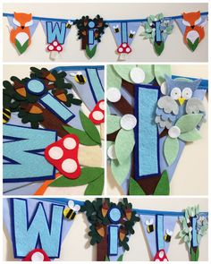 Woodlands theme bunting for will!   https://www.etsy.com/uk/shop/Bettybuntings