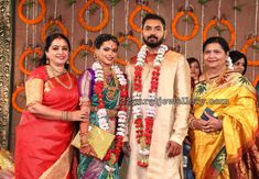 Director and producer Parthiban and Seeta daughter Keerthana and Akshay( son of editor Sreekar Prasad) wedding event held in Chennai Marriage Decoration, Celebrity Jewelry, Elegant Saree, Indian Celebrities, Cotton Blouses, Bridal Collection, Flower Decorations, Blouse Designs, Wedding Events