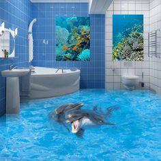 Beautiful 3D #bathroom #floor designs