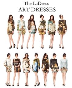 to celebrate the reopening of the Rijksmuseum in Amsterdam, LaDress has made a set of special art-dresses. LOVE THESE