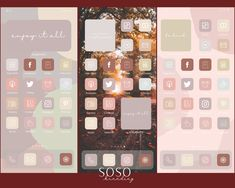 Want a home screen that looks like this? Check out SOSO Branding on Etsy (etsy.com/shop/sosobranding) for app covers to customize your home screen and make it aesthetically pleasing!      iPhone iPad home screen ideas | Home screen inspo | Aesthetic home screen inspiration | Widgetsmith Shortcuts app | Aesthetic home screen inspo | iOS 14 widget photos | iOS 14 app covers | iOS 14 app icons | iPhone iPad Themes Tinder Tips, Microsoft Visio, Shortcut Icon, Ipad Ios, Phone Wallpaper Design, Iphone Layout, Any App, App Covers, Phone Photography