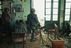 05 Feb 1968, Hue, South Vietnam - US Marines in Position in Building - Image by © Bettmann/CORBIS | by tommy japan