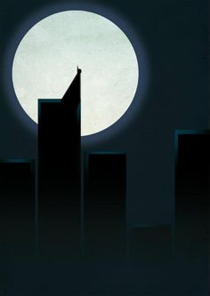 """""""A Dark Knight in Front of the Moon"""" by Grégoire Guillemin, from his """"Smooth Heroes"""" series (© 2011)."""