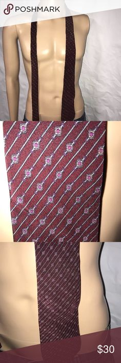 Stefano Ricci Tie for Saks Fifth Avenue Men's Stefano Ricci Tie Expressly Made for Saks Fifth Avenue  Color: Red, Purple, peach & Blue    The tag that says 100% silk is falling off Stefano Ricci Accessories Ties