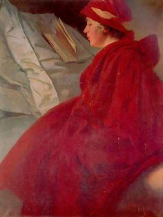 The Red Cape, 1912  Alphonse Mucha