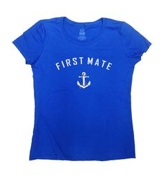 First Mate Shirt - Great Gift For Anyone Who Loves Sailing or Boating!  Love this design? Why not consider one for a Captain: https://www.etsy.com/ca/listing/235377990/captain-t-shirt-sailing-shirt-nautical _____________________________________________________________  All t-shirts are printed on 100% High Quality (Preshrunk) Cotton Branded T-shirts Such As: Fruit Of The Loom Alstyle Gildan  All t-shirts are custom made to order and are printed using the latest i...