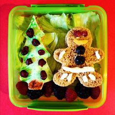Week 13 lunch for my daughter on www.lunchboxdad.com.  Its a Gingerbread Man! #bento #kidslunches #christmas