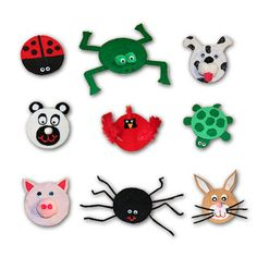 Recycle CD Creatures craft - Mom would have been all about the lady bug
