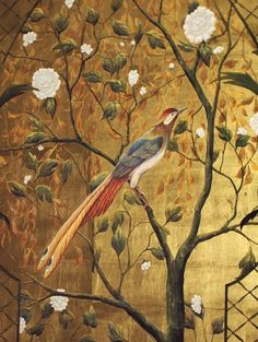 Alibaba wallpaper     Definition  of chinoiserie  A style in art (as in decoration) reflecting Chinese qualities or motifs; also: an obje...