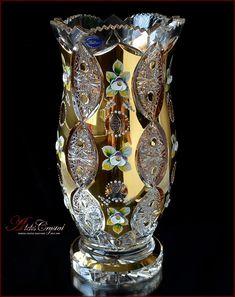 Antique Glassware, Crystal Glassware, Crystal Decanter, Cobalt Glass, Gold Glass, Glass Art, Bohemia Crystal, Bohemia Glass, Glass Ceramic