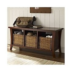 Storage Bench Organizer Entry Hallway Home Decor Accent Seating Furniture New