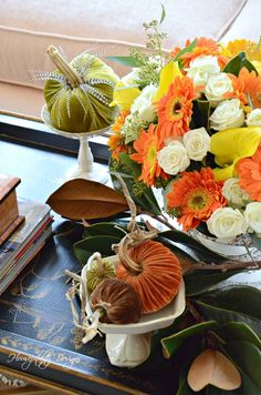 Sunroom Fall Flower Arrangement