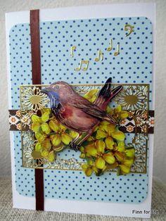 Handmade card with 3D bird