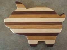 Wooden Pig Cutting Board, Wooden Serving Platter