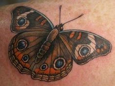 Image titled 'Buckeye Moth tattoo' posted by Lucky Draw Tattoos - ATL to gallery page 'Tattoos by Tim Baxley' on Luna Moth Tattoo, 1 Tattoo, Love Tattoos, Tribal Tattoos, Buckeye Butterfly, Cancer Ribbon Tattoos, Lantern Tattoo, Friendship Tattoos, Colour Tattoo