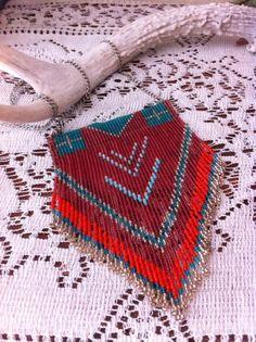 RÉSERVÉS au collier de perles à la main pour NINA par WeaveGold