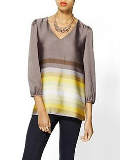MM Couture Striped Blouse | Piperlime