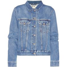 Acne Studios Top Denim Jacket ($370) ❤ liked on Polyvore featuring outerwear, jackets, coats & jackets, denim, blue, denim jacket, acne studios, jean jacket, blue denim jacket and blue jackets