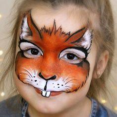 #squirrel #facepainting #animalfacepaint #animalface #facepaintingdesigns…