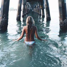 girl, summer, and beach-bilde
