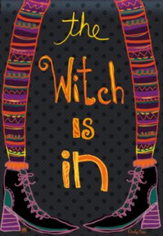 Witch-Is-In-Halloween-Garden-Flag-Fall-Decorative-Mini-Banner-12-5-x-18