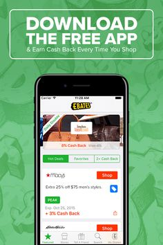 Shop and save at over 2,000 stores with the free app from Ebates. You'll get a free $10 Walmart gift card or a $10 Ebates cash bonus when you spend your first $25!
