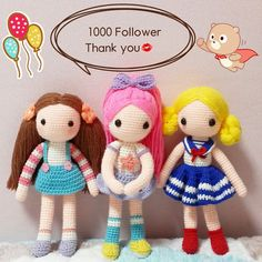 I'm sooooo happy Thank you always. . . 우히히힛ㅋ 드디어1000팔로우 달성! 캄사합니다 . . #crochet#amigurumi#dolls#뜨개질#handmade#cotton#by_me#knitting#kawaii#crochetaddict#wool#craft#yarn#iloveit#코바늘#knit#ilikeit#1000#pattern#madebyme#adorable#deer#follower#귀요미#캐릭터#crochetdoll#blond#friend#marine
