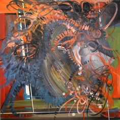 """Phillip Potter """"Loose Cognition of Time #9, 36""""x24"""" Oil on Canvas"""""""