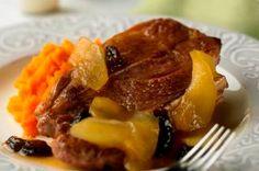 Maple-and-Apple Braised Lamb Shoulder Chops - Entree #leanlamb #lamb #recipe
